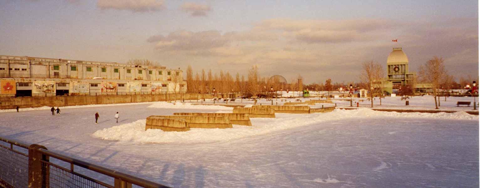 Montréal - le port en hiver