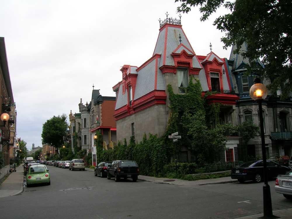Une rue typique de Montréal