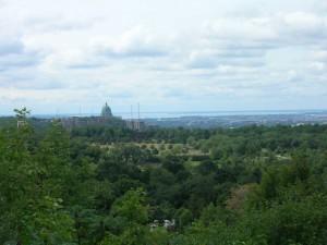 Montréal depuis le belvédère de Mont Royal