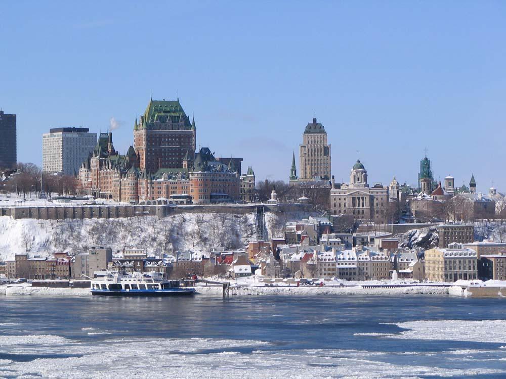 La ville de Québec en hiver, son carnaval