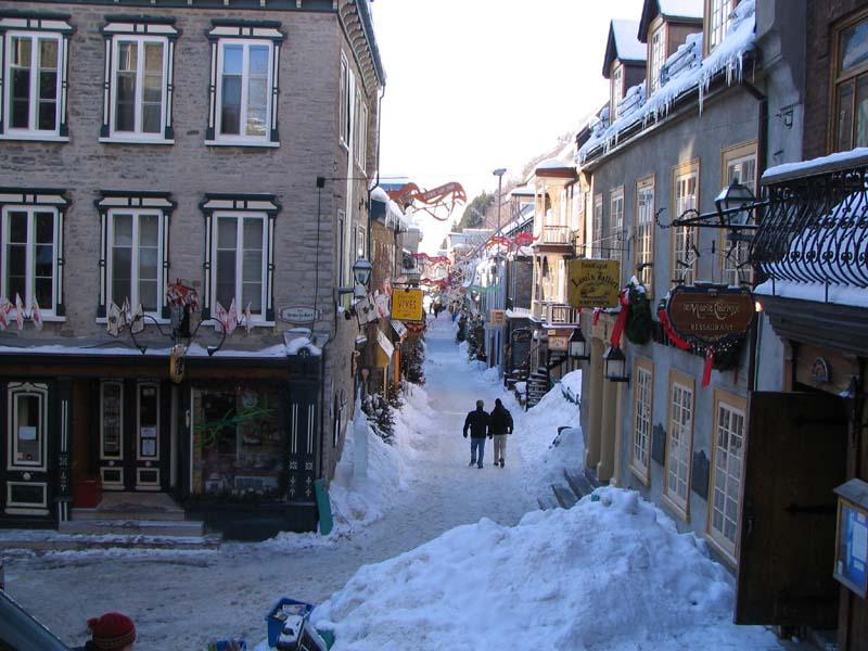 Vieux Montréal en hiver