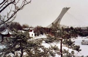 Jardin botanique Montréal hiver